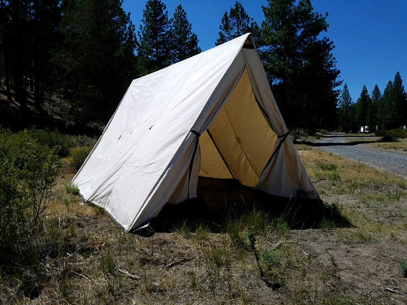 Wedge Tent | Bravo! Canvas Wall Tents