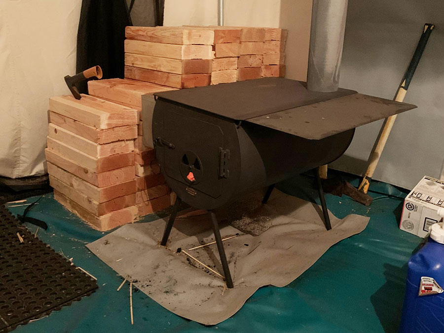 cylinder Stove for survival tents